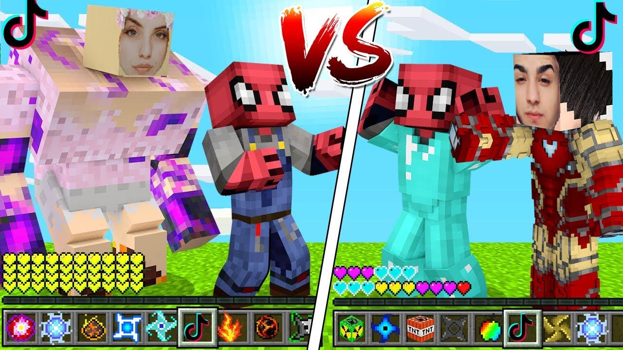 FAKİR TİKTOKER VS ZENGİN TİKTOKER!😱  - Minecraft