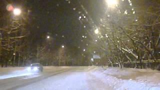 ДТП на зимней дороге в городе. Междуреченск