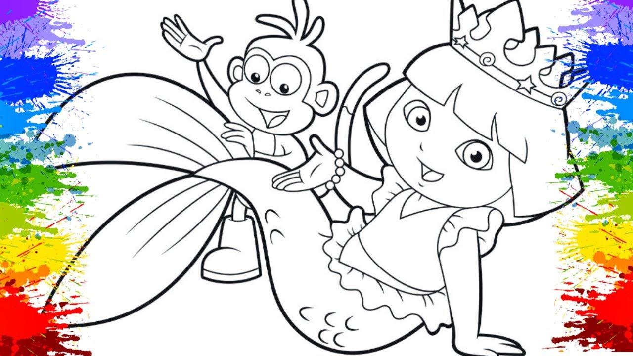 Colorir Desenho Da Dora Aventureira Aquarela E Diversao Infantil