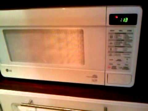 Lg Mh6347gr White Touch Microwave With Grill Youtube