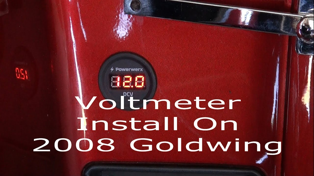 Install A Voltmeter On 2008 Goldwing Motorcycle Youtube Wiring Diagram