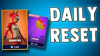 FORTNITE DAILY SKIN RESET - TRICERA OPS SKIN!! Fortnite Battle Royale NEW ITEMS in Item Shop