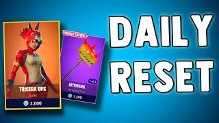 FORTNITE DAILY SKIN RESET - TRICERA OPS SKIN!! Fortnite Battle Royale NEW ITEMS dans la boutique d'objets