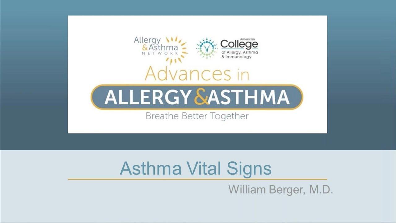 Asthma Vital Signs