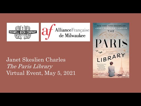 Janet Skeslien Charles Virtual Event for The Paris Library - Boswell Book Company