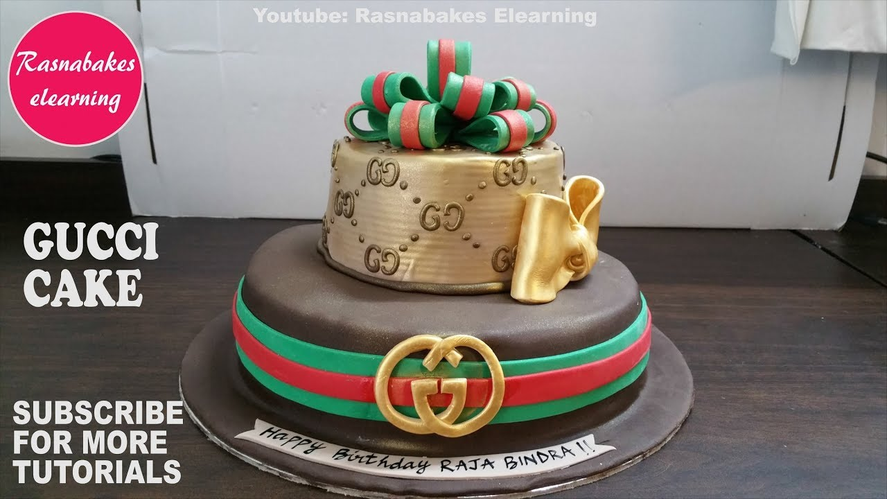Gucci Box Birthday Cake Design Ideas For Men Or Women