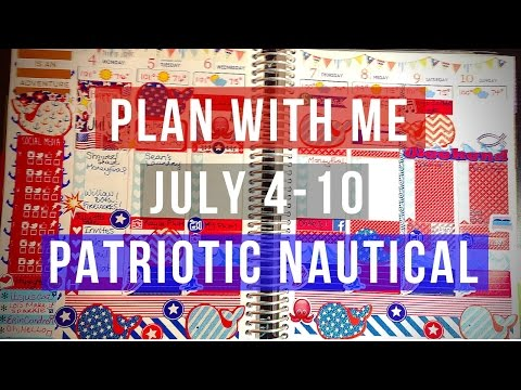 Plan With Me July 4-10: Patriotic Nautical
