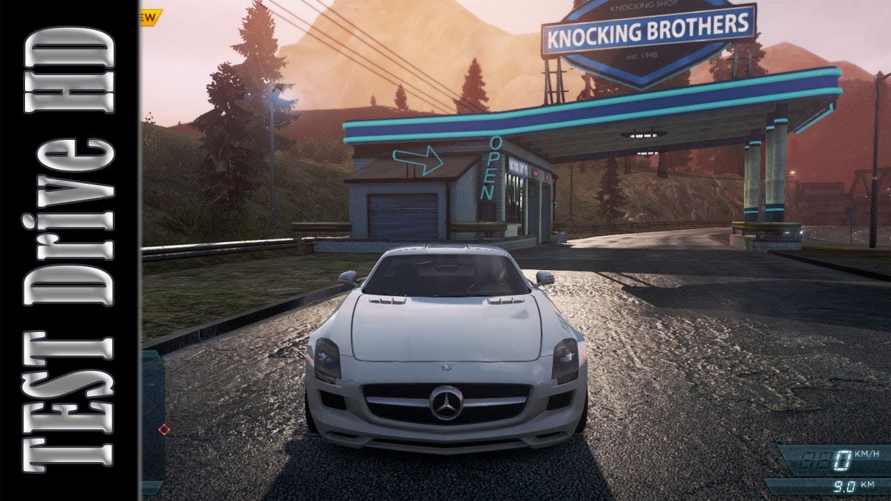 mercedes-benz sls amg - need for speed: most wanted 2012 - test