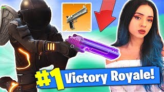 1 KILL *HAND CANNON* WIN with FRENCH GUY on Fortnite ! - Battle Royale
