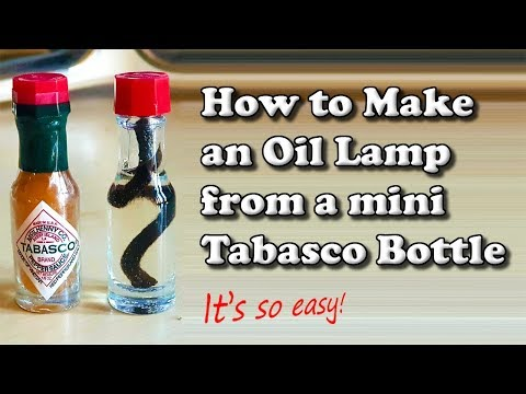 How to Make an Oil Lamp from a Mini Tabasco Sauce Bottle 🔥🏴󠁧󠁢󠁥󠁮󠁧󠁿🏕️