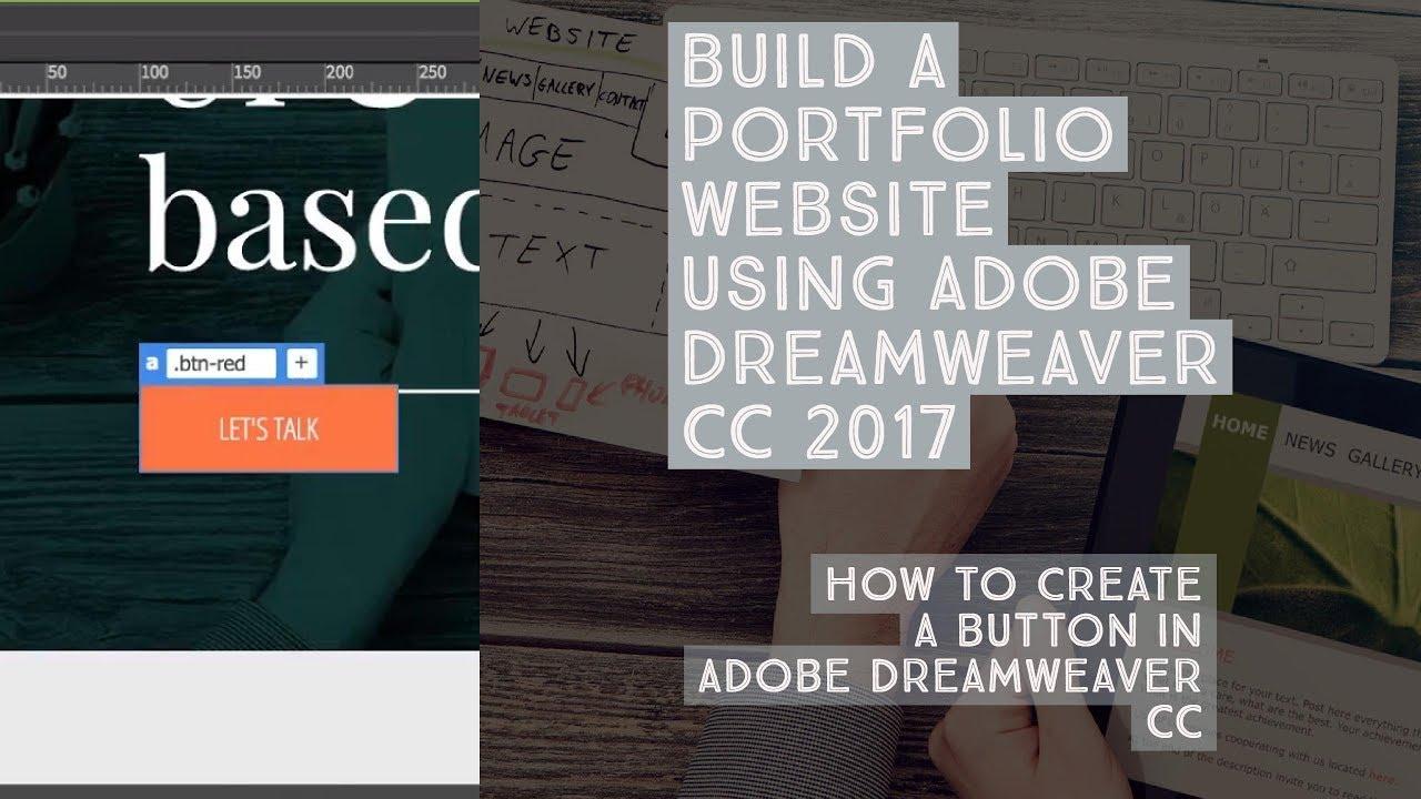 How to create a button in Adobe Dreamweaver CC - Dreamweaver ...