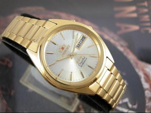 df41a80c568 Relógio Orient Automatico Calendario Duplo Plaque Ouro - YouTube