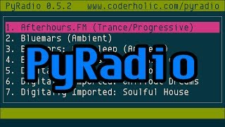 PyRadio, command-line Internet radio player