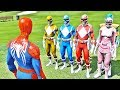 HOMEM ARANHA vs POWER RANGERS - GTA V Mods - Spider-Man vs Power Rangers