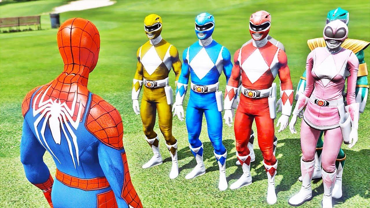 Homem Aranha Vs Power Rangers Gta V Mods Spider Man Vs Power