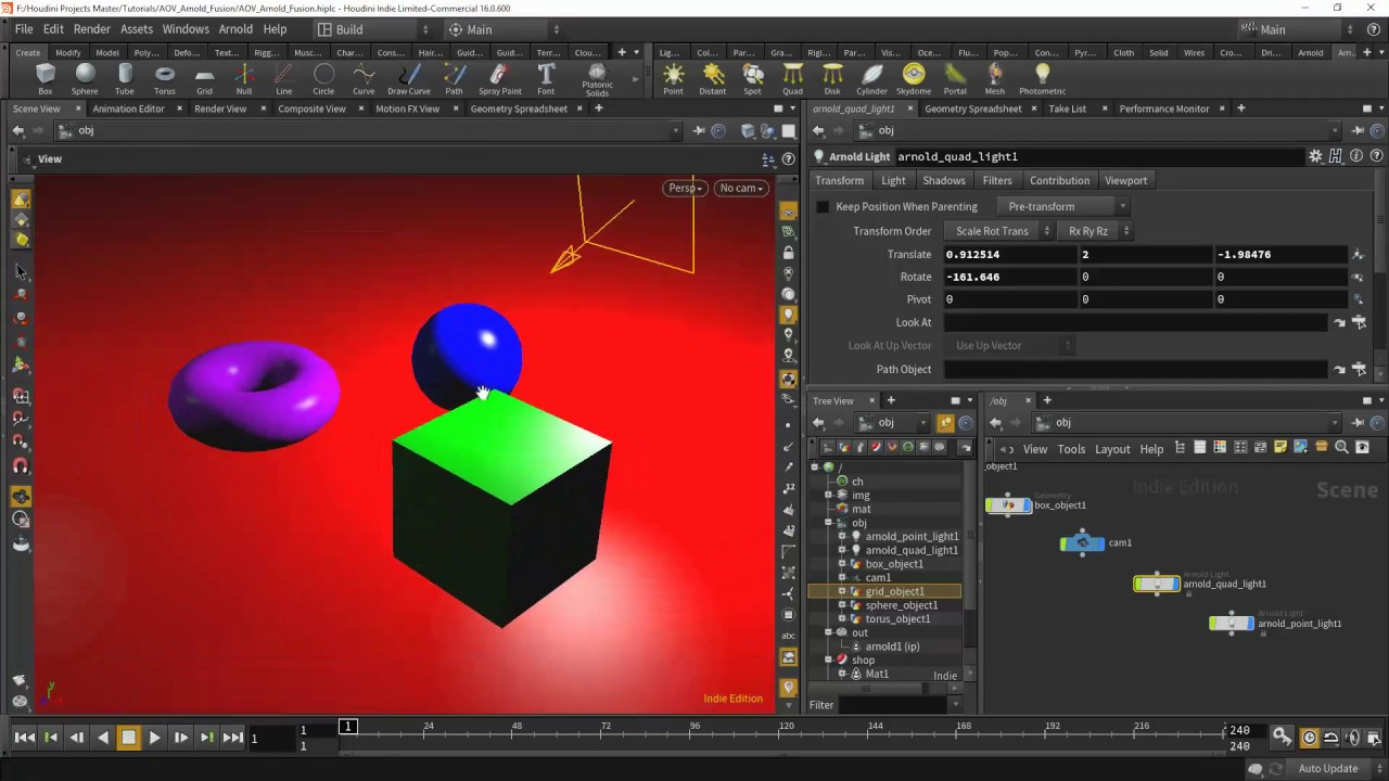 SideFX Houdini 16 - Arnold Render AOVS - Blackmagic Fusion: Basic EXR  Workflow Tips