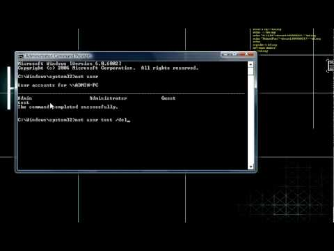 how to hack into an account and delete it using cmd