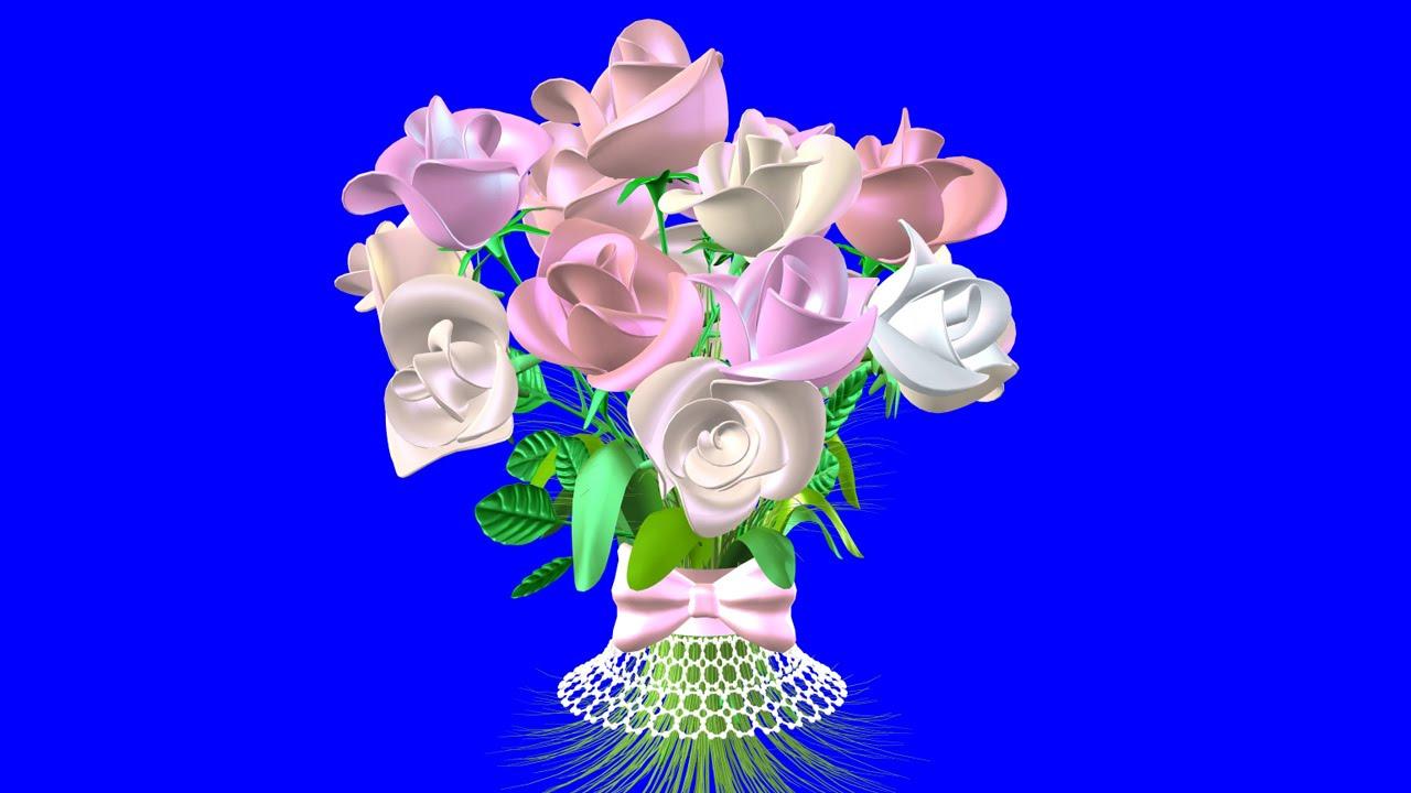 Цветы на хромакее
