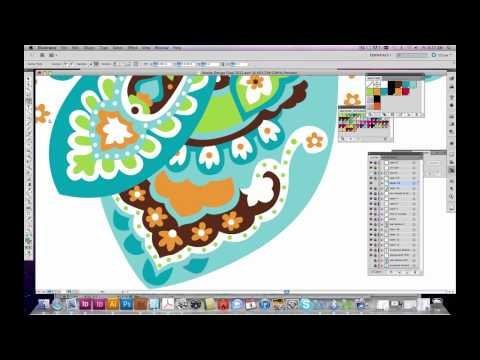 How to create a pattern in Illustrator: Paisley