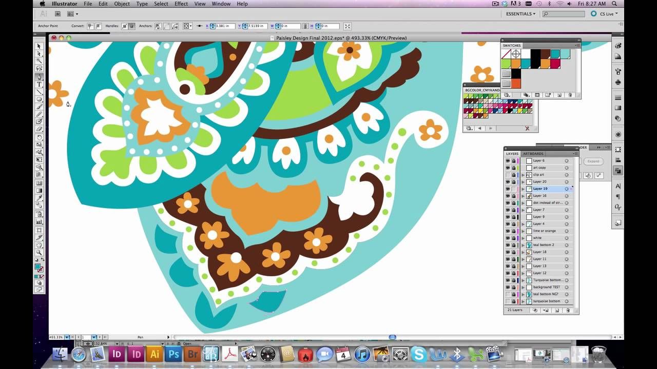 How to create a pattern in Illustrator Paisley  YouTube