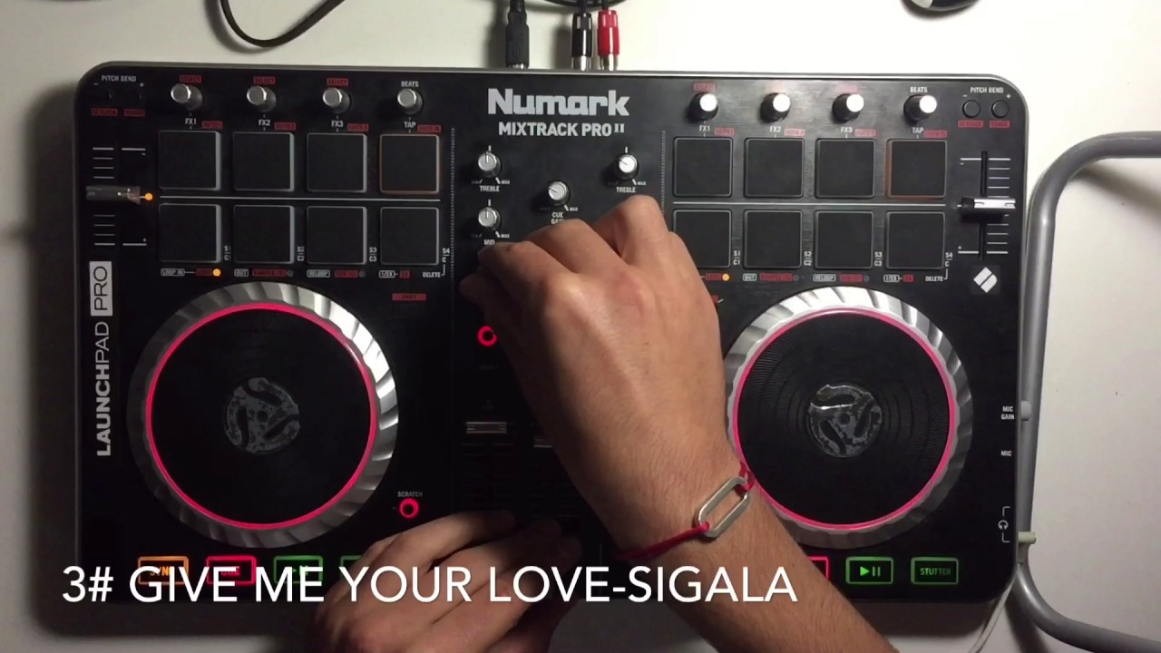 Numark Mitrack pro 2: 4 songs's remix of Sigala (by Yhugo Slave)