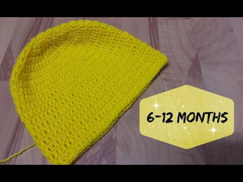 How To Crochet A Hat For 6 12 Months Old Baby Crochet Youtube