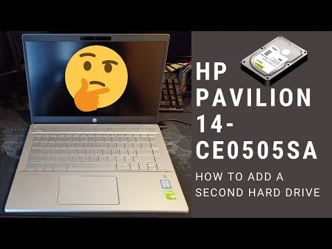 How to add a Second Hard Drive to the HP Pavilion 14-CE0505SA