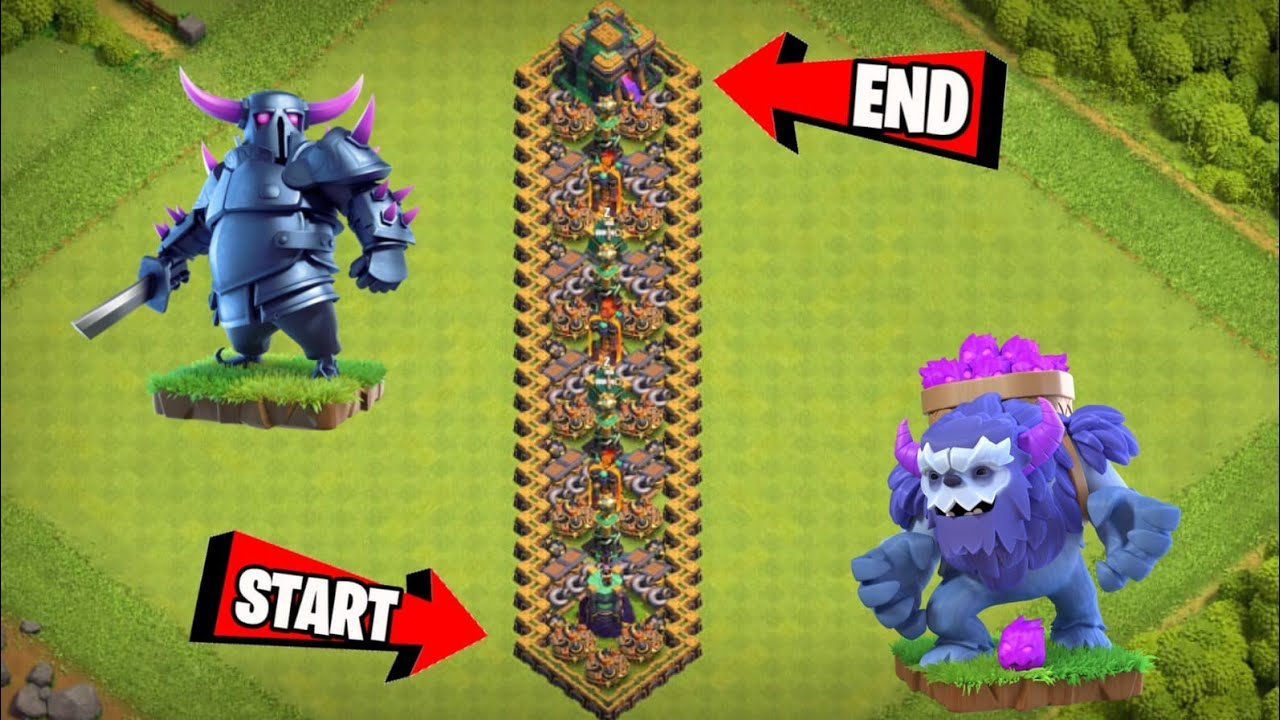 Zig Zag Base Challenge | Zig Zag Base Formation Vs Max Level Ground Troops On Coc | Clash Of Clans |