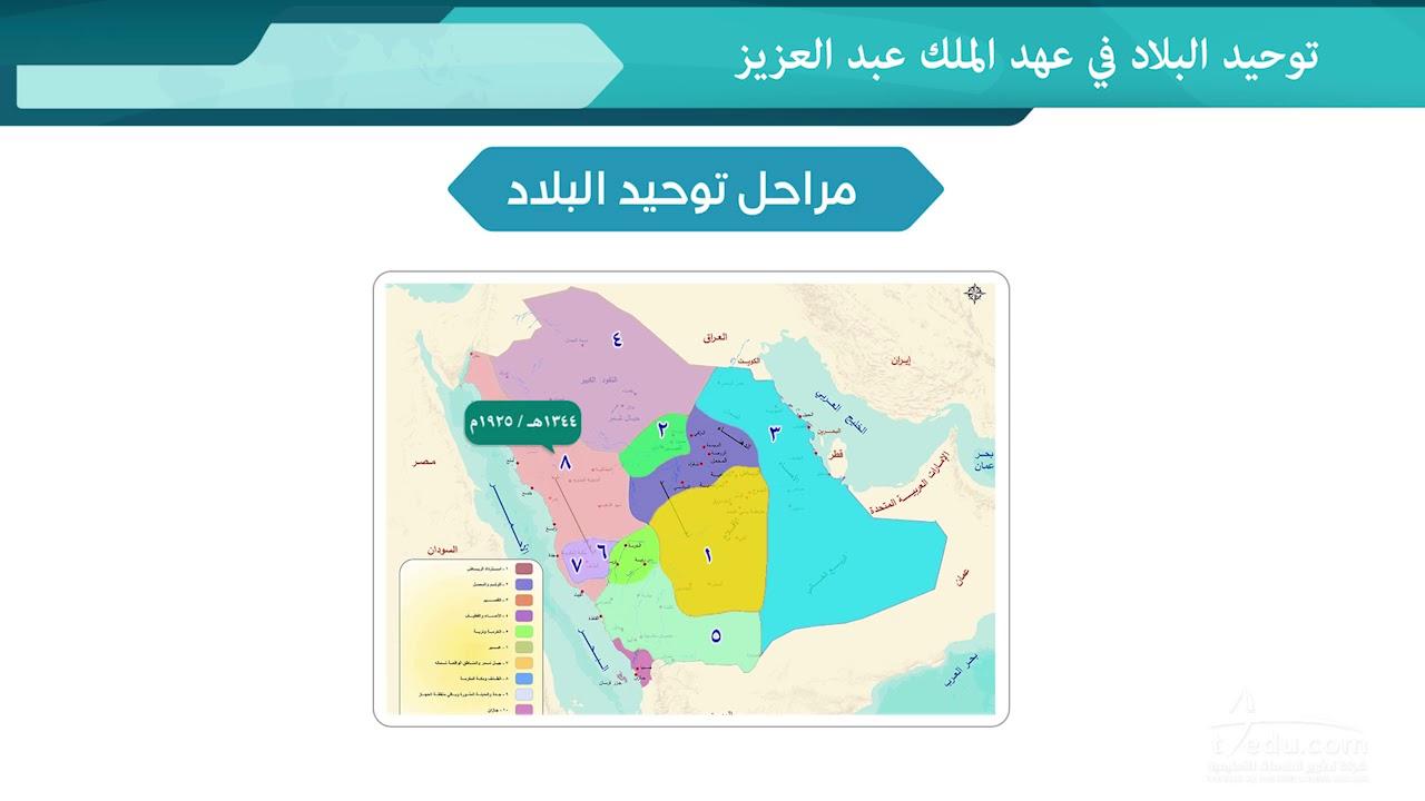 توحيد البلاد في عهد الملك عبدالعزيز Youtube