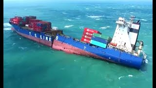 Top 10 Big Military & Cargo Ships Crash & Resist Waves In Storm