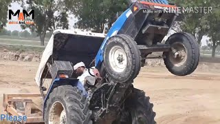 New Holland 5500 Vs New Holland 3630 Stunt With Dolly krwa// New Holland 5500// By Mix And Mix://