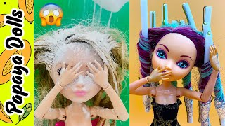 Dolls Hairstyles �� Amazing Barbie and Monster Dolls Hair Transformation �� Creative Fun for Kids