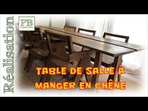 Fabriquer une table de salle à manger en chêne / Oak dining room table (DIY)