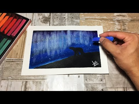 Soft Pastel Artic Landscape Speed Painting [Abel Rosales]