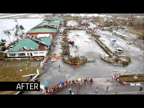 Tacloban Airport - before / after