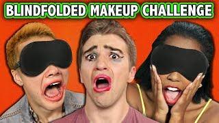 BLINDFOLD MAKE-UP PUNISHMENT CHALLENGE! (ft. React Cast)