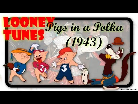 PIGS IN A POLKA (1943) - LOONEY TUNES - HD 1080p