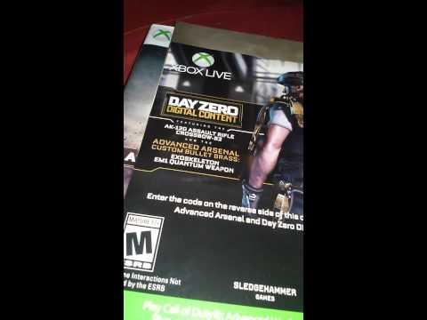 Advance warfare free day zero edition code