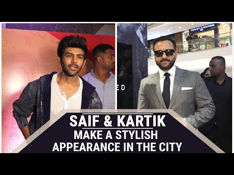 Saif Ali Khan and Kartik Aaryan make a stylish appearance in the city Mp3