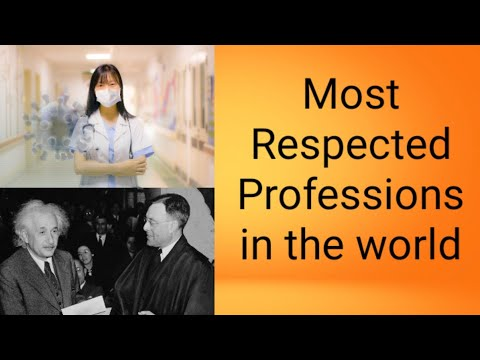 world most respected professions for job