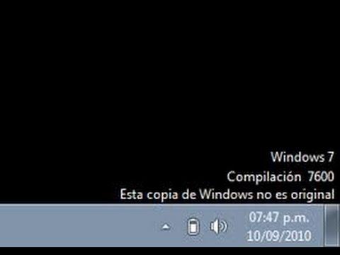Quitar Mensaje Windows No Es Original Fácil Y Rápido Youtube