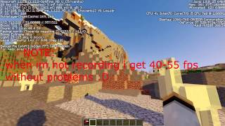 MINECRAFT with SHADERS benchmark with the GT 520 and the i5 760