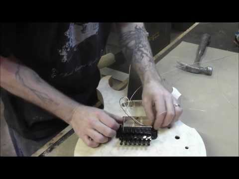 How to Build an Electric Guitar-Video 18- Floyd Rose Install