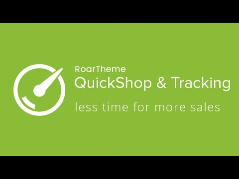 QuickShop & Tracking - By RoarTheme