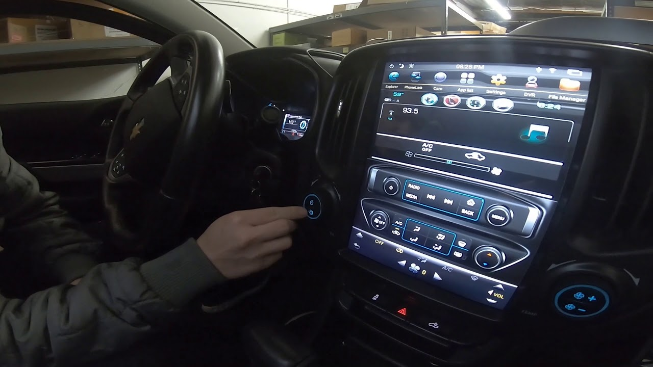 hight resolution of demo video 12 1 inch vertical screen android head unit for 2015 2019 chevy colorado and gmc canyon