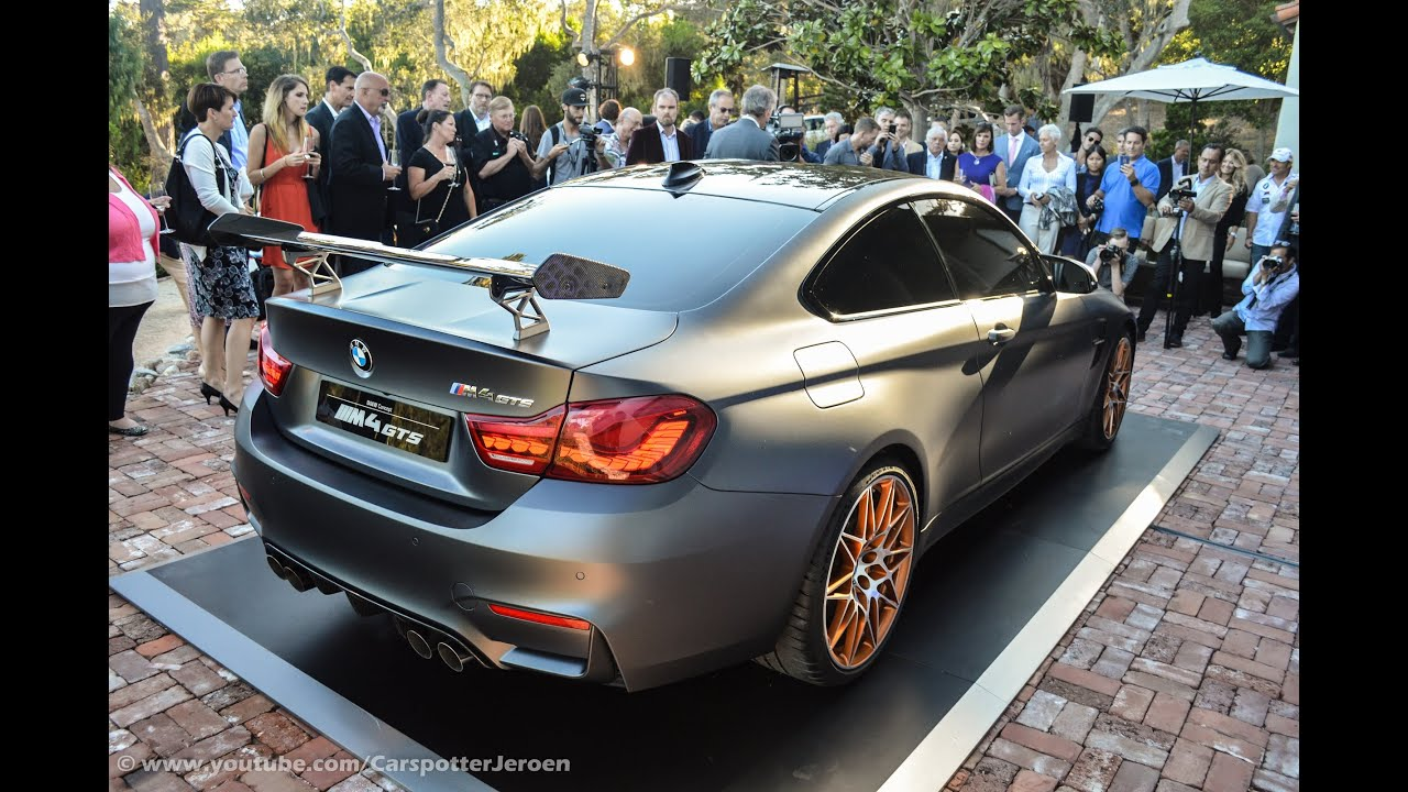 Bmw 3 0 Csl >> WORLD PREMIERE of the BMW M4 GTS | Monterey Carweek 2015 - YouTube