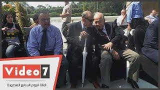 بالفيديو.. فريد الديب وأهالى الشهداء يحتفلون بذكرى 6 أكتوبر أمام النصب التذكارى