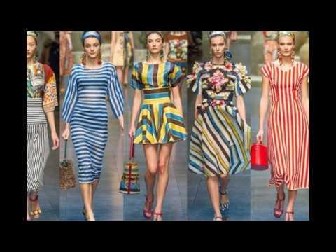 Женская одежда в полоску   2017-2018