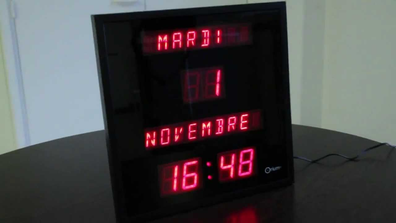 Horloge calendrier digitale - YouTube