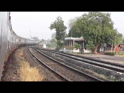22945 Saurashtra Mail departs from Sanand Railway Station.